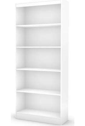 Rani Melisa 5 Raflı Beyaz Kitaplık Büyük Boy - Modern Tasarım