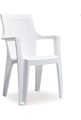 Novussi Garden Elegance S Rattan Sandalye -Beyaz