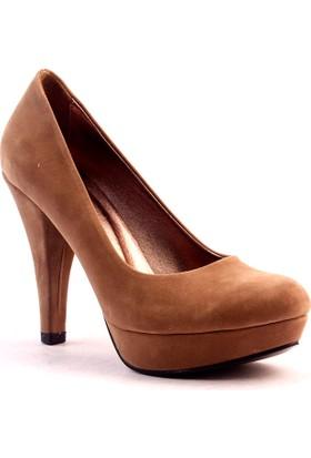 Paddy 2735 Platform İnce Topuk Kadın Süet Ayakkabı