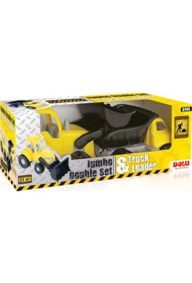 Dolu Oyuncak 6144 Jumbo İkili Kamyon- Dozer Set