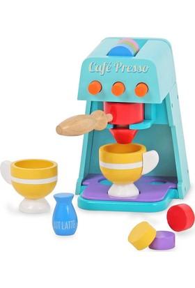 Vardem3531-Mt Eğitici Ahşap Aksesuarlı Kahve Makinası