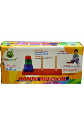 Karsan Oyuncak 068Kr Woodoy Ahşap Hanoi Kuleler