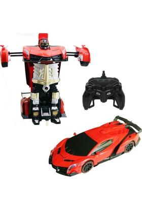 Kayyum Dönüşen Şarjlı Kırmızı Robot Araba