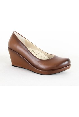 Frolest 342 Bayan Dolgu Topuk Ayakkabı Taba