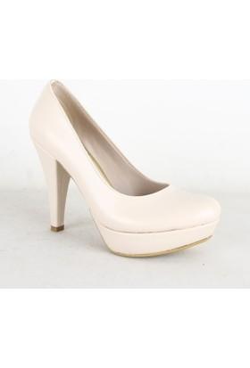 Nes 500 Platform Topuk Bayan Ayakkabı Krem