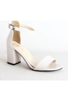 Nes 800 Ruhan Tek Bant Topuklu Ayakkabı Krem