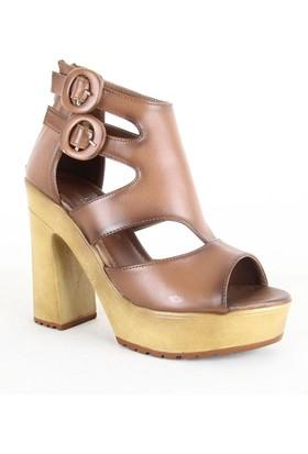 Santa Marina 7035 Bayan Topuklu Ayakkabı Taba