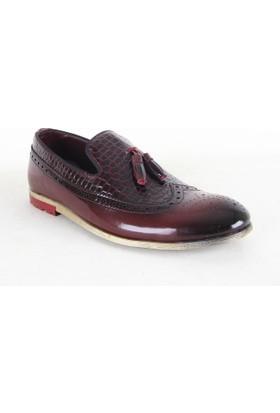 Zeki Narin 2118 Rugan Erkek Günlük Ayakkabı Bordo
