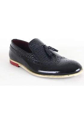 Zeki Narin 2118 Rugan Erkek Günlük Ayakkabı Siyah