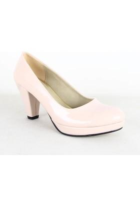 Treks Tecer 103 Rugan Bayan Topuklu Ayakkabı Pudra