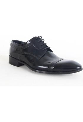 Daypa 307 Erkek Rugan Erkek Klasik Ayakkabı Siyah
