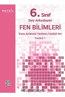 Netbil Yayınları 6.Sınıf Sıra Arkadaşım Fen Bilimleri Konu Özetli Fasikül Set