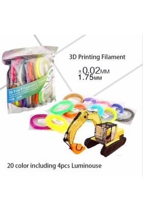 Sunlu 20 Renk Pla 3D Kalem Filamenti 1.75Mm