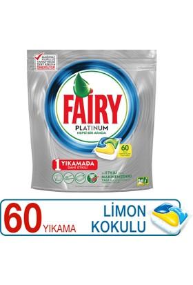 Fairy Platinum Bulaşık Makinesi Deterjanı Kapsülü Limon Kokulu 60 Yıkama