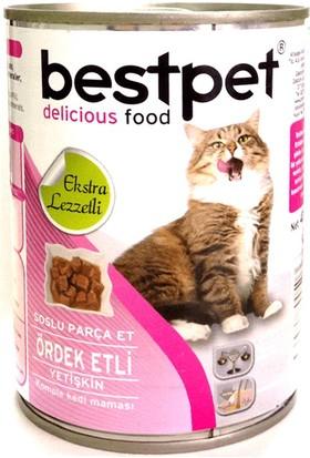 Bestpet Soslu Parça Ördek Etli Konserve Yetişkin Kedi Maması 415 gr