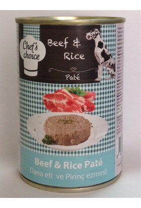 Chefs Choice Kıyılmış Biftekli Konserve Köpek Maması 400 Gr