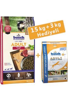 Bosch Adult Lamb - Rice Kuzu Etli Pirinçli Yetişkin Köpek Mamasi 15 Kg (+3 Kg)