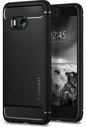 Spigen HTC U11 Kılıf Rugged Armor Black - H11CS21938