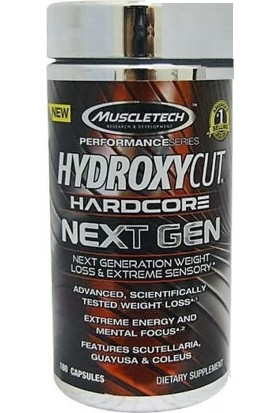 Muscletech Hydroxycut Hardcore Next Gen 180 Caps USA = 90 SERVİS - Orijinal USA