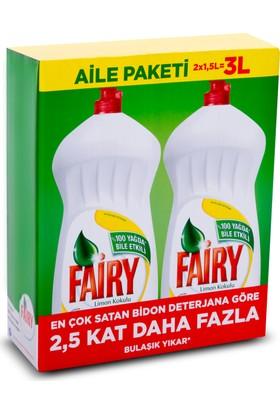 Fairy Sıvı Bulaşık Deterjanı Limon Aile Paketi 3 lt ( 2 x 1500 ml)