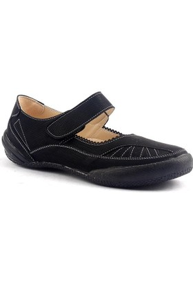 Caprito 436 Cırtlı Ortopedik Günlük Kadın Babet Ayakkabı
