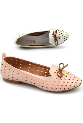 Ccway 555 Günlük Lazer Kesim Bayan Babet Ayakkabı