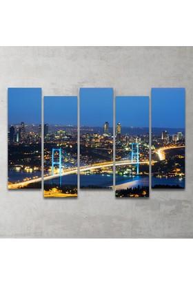 Plustablo İstanbul 5 Parça MDF Tablo 100x65 cm