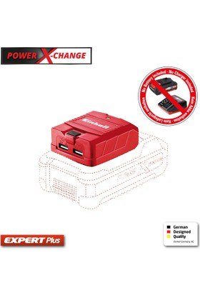 Einhell PXC Akülü Mobil USB Şarj Cihazı TE-CP Li USB - Solo