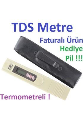 TDS Metre Su Kalitesi Ölçüm Cihazı Termometreli TDS Ölçer