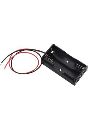 İkili AA Pil Kutusu 1.5V Pil Bağlantı Aparatı Arduino 2li Kalem
