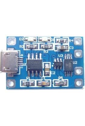 Lityum Pil Şarj Devresi Micro USB TP4056 Batarya Şarj Modülü