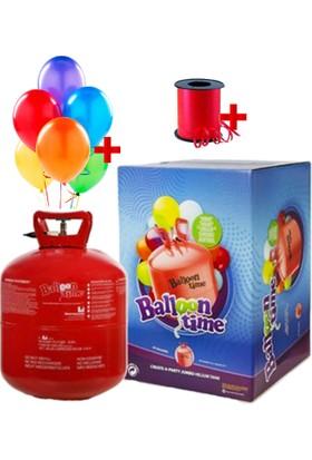Trend 3 Litre Helyum Tüpü 30 Adet Folyo Balon + İp