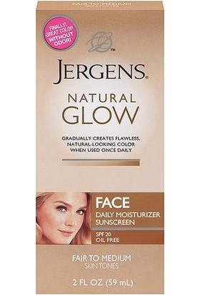 Jergens Natural Glow Face Daily Moisturizer Sunscreen Fair to Medium 59 ML