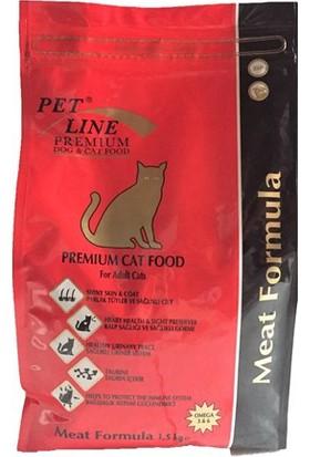 Petline Premium Etli Yetişkin Kedi Maması 1,5 Kg