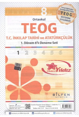 Bilfen Yayınları Teog 6'Lı 8.Sınıf T.C. İnkılap Tarihi Ve Atatürkçülük Paket Deneme Seti