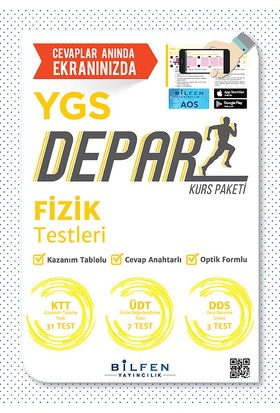 Bilfen Yayınları Ygs Fizik Depar Kurs Paketi Tek Öğrencilik