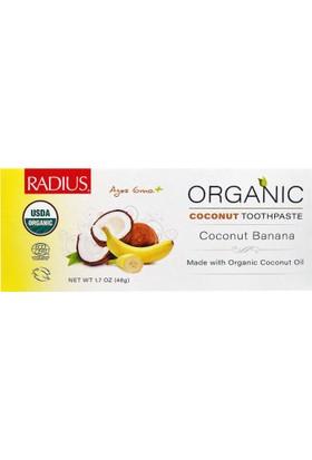 Radius Organik Çocuk Diş Macunu, Hindistancevizi Ve Muz, 48 Gr, Radius