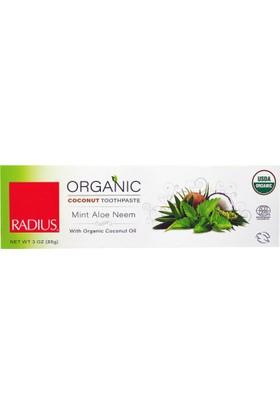 Radius Organik Diş Macunu, Hindistancevizi, Nane Aloe Neem,85 Gr, Radius