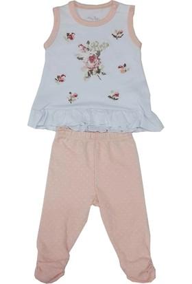 For My Baby Kanavice Askılı Kız Bebek Takımı