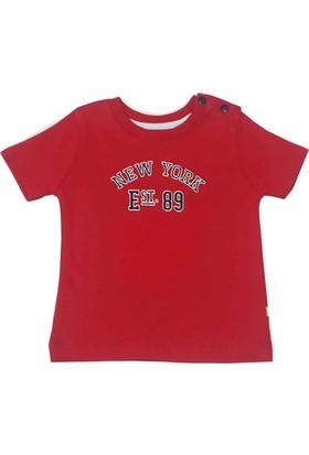 For My Baby NewYork Çocuk Tişört Kırmızı