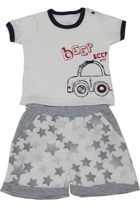 For My Baby The Car Şortlu Erkek Bebek Takımı