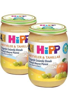 Hipp Organik Üzümlü Elmalı Pirinçli Meyve Püreli Kavanoz Maması 190 gr - 2'li