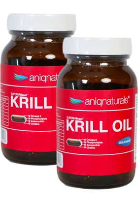 Superba Boost Krill Oil 60 Licaps Glass Jar 2 Adet