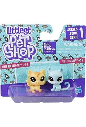 Hasbro Littlest Pet Shop İkili Minişler Kitty & Fluffy