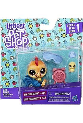 Hasbro Littlest Pet Shop İkili Minişler Rick & Sunny Chickencluck