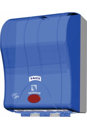 Palex 3491-1 Prestij Otomatik Havlu Dispenseri 21 CM Şeffaf Mavi
