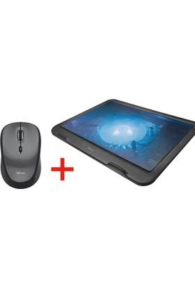 Trust Ziva 21962 16'' Laptop Soğutucu Ve Trust Kablosuz Siyah Mouse