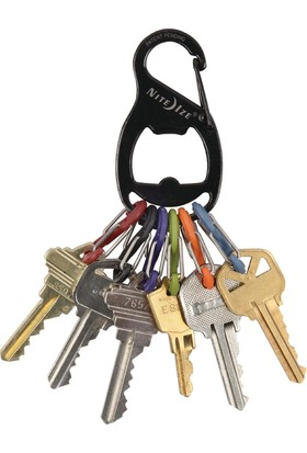 Nite Ize S-Biner Keyrack Şişe Açacağı Anahtarlık-Siyah