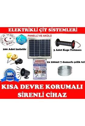 Sirenli & Solar Güneş Enerjili Elektrikli Çit Set -2