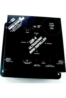 Bird-X Qb4 Ultrasonik Kuş Kovucu 603 M² (Güvercin, Serçe, Sığırcık, Yarasa & Kemirgen)